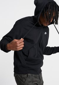 Nike Sportswear - HOODIE - Hoodie - black/black/white - 3