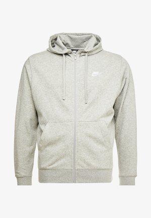 CLUB HOODIE - Hoodie met rits - grey heather/matte silver/white