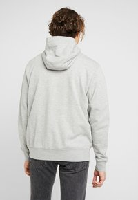 Nike Sportswear - CLUB HOODIE - Zip-up hoodie - grey heather/matte silver/white - 2