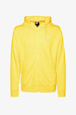 CLUB HOODIE - veste en sweat zippée - university gold/university gold/white