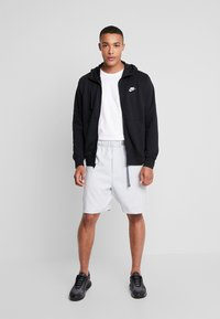 Nike Sportswear - CLUB HOODIE - Collegetakki - black/white - 1