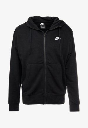 CLUB HOODIE - Huvtröja med dragkedja - black/white