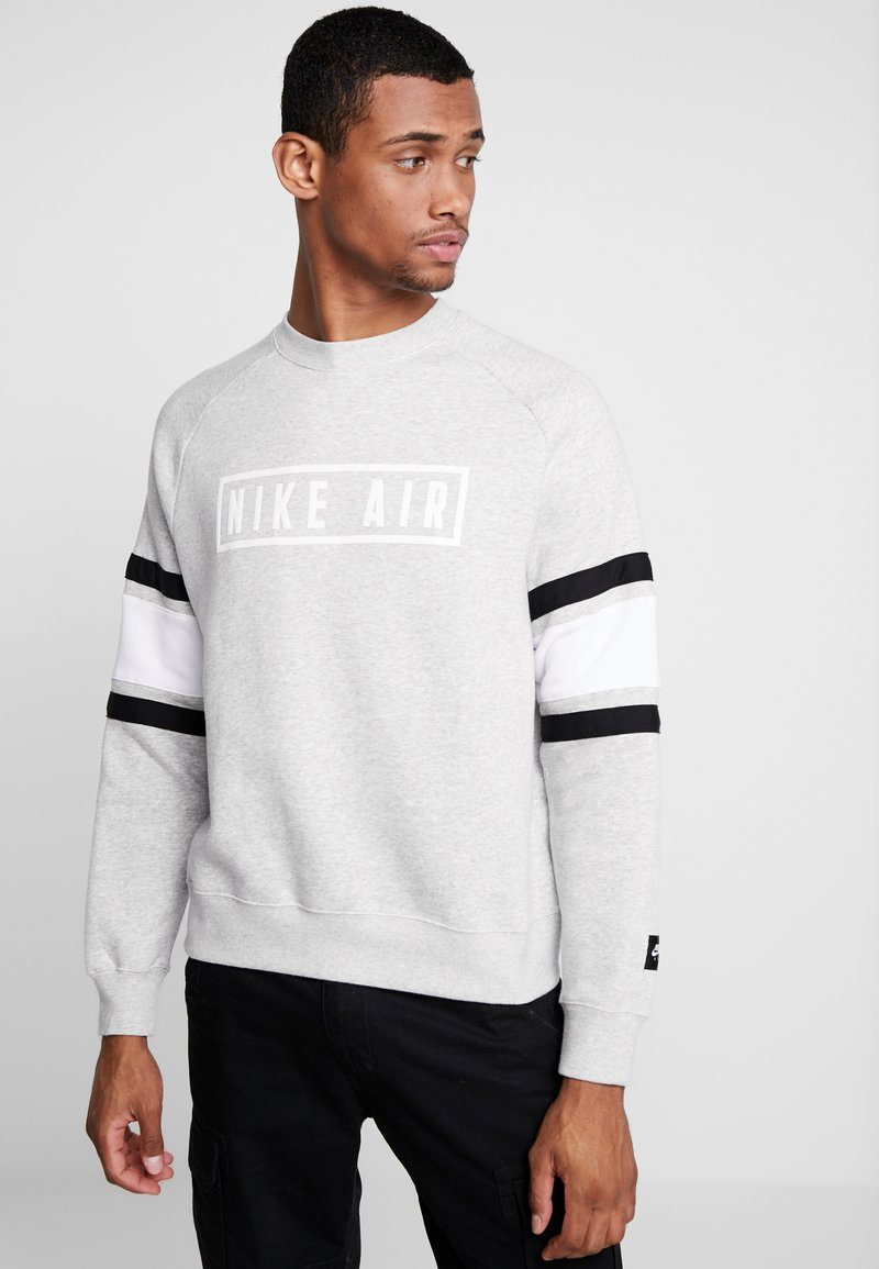 Nike Sportswear - AIR CREW  - Sweatshirts - grey heather/white/black