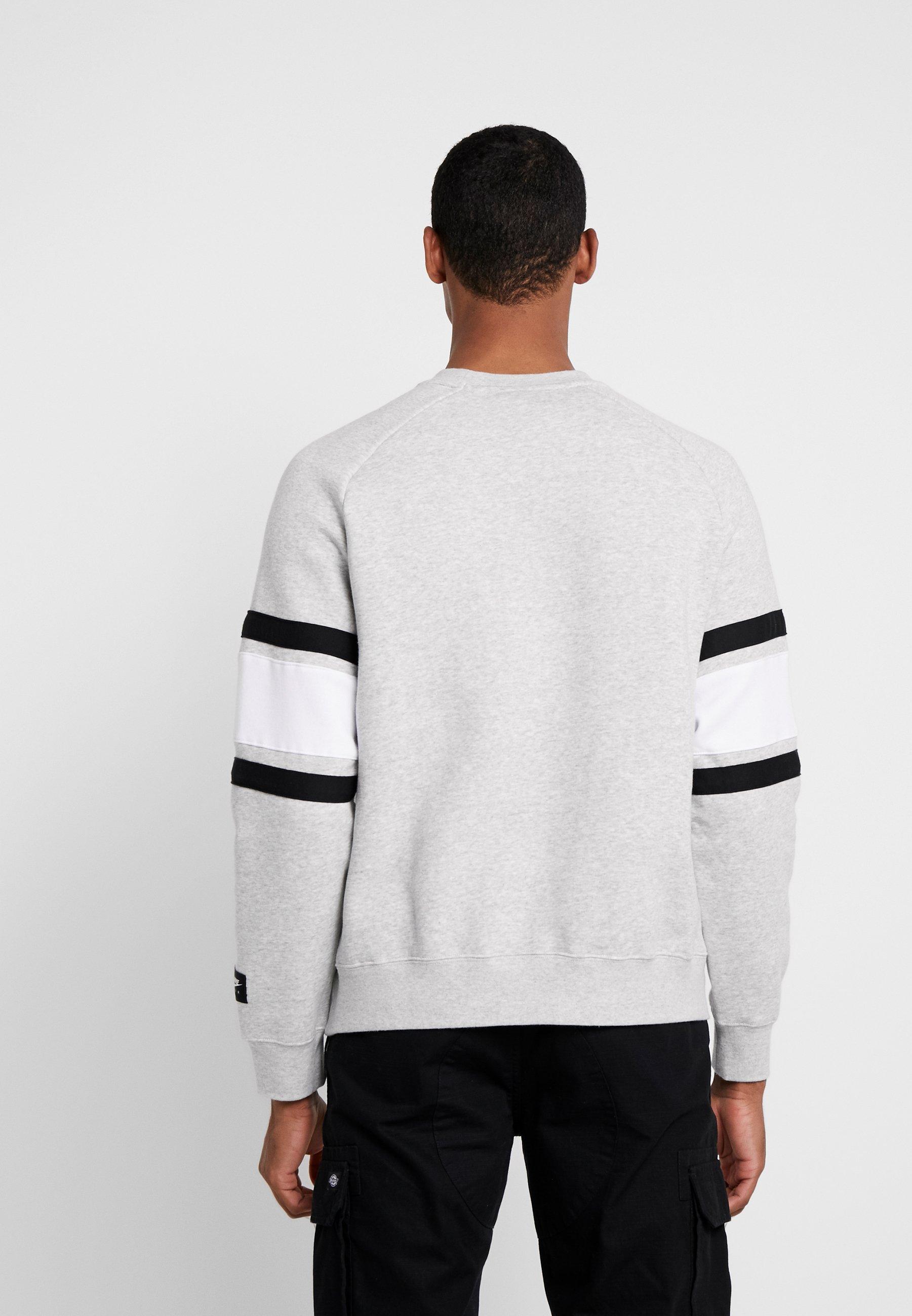 Nike Grey black Sportswear CrewSweatshirt Heather Air white ikOuPZTX