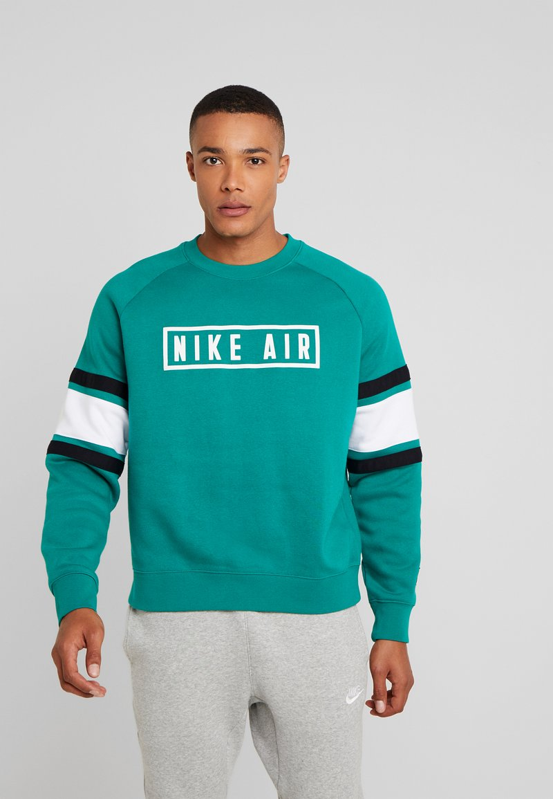 Nike Sportswear - AIR CREW  - Sweatshirt - mystic green/white/black