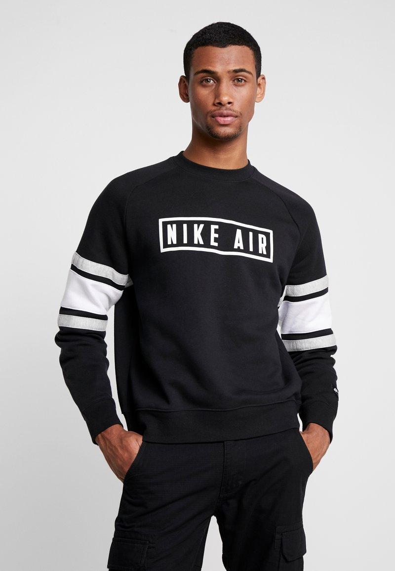 Nike Sportswear - AIR CREW  - Sweatshirt - black/white/grey heather