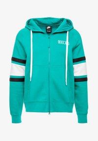 Nike Sportswear - HOODIE - Sudadera con cremallera - mystic green/white/black - 3