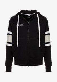 Nike Sportswear - HOODIE - Sweatjakke /Træningstrøjer - black/white/grey heather - 4