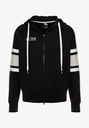 HOODIE - Hoodie met rits - black/white/grey heather