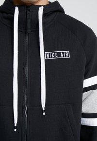 Nike Sportswear - HOODIE - Sudadera con cremallera - black/white/grey heather - 5