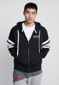 Nike Sportswear - HOODIE - Sweatjakke /Træningstrøjer - black/white/grey heather - 0