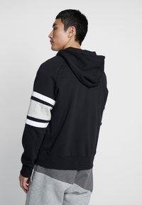 Nike Sportswear - HOODIE - Sudadera con cremallera - black/white/grey heather - 2
