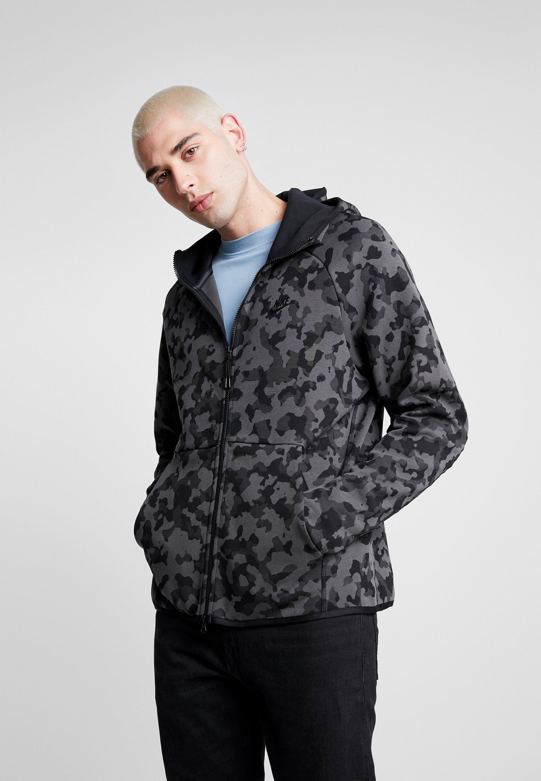 Nike Sportswear HOODIE - Bluza rozpinana - atmosphere grey/black
