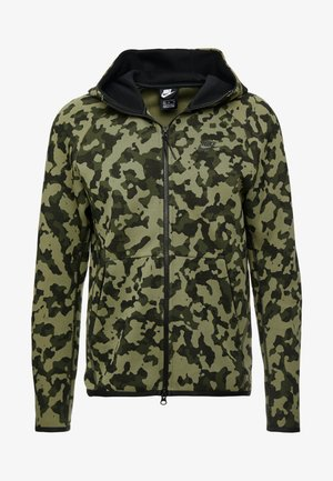 HOODIE  - veste en sweat zippée - medium olive/black