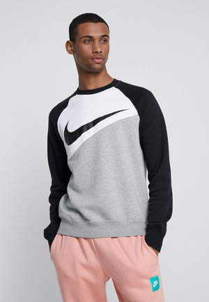 CREW - Sweatshirt - grey heather/white/black
