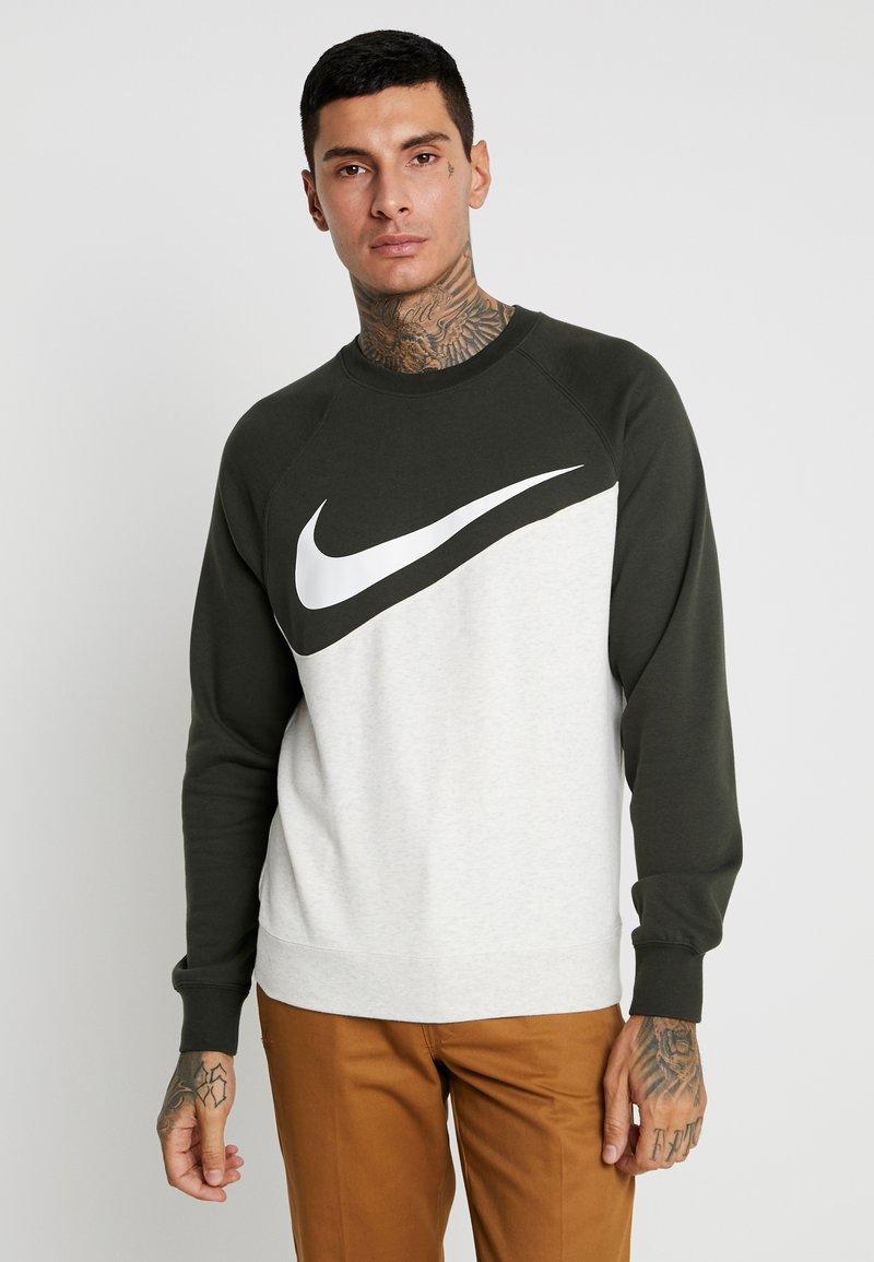 Nike Sportswear - CREW  - Sweatshirt - oatmeal heather/sequoia