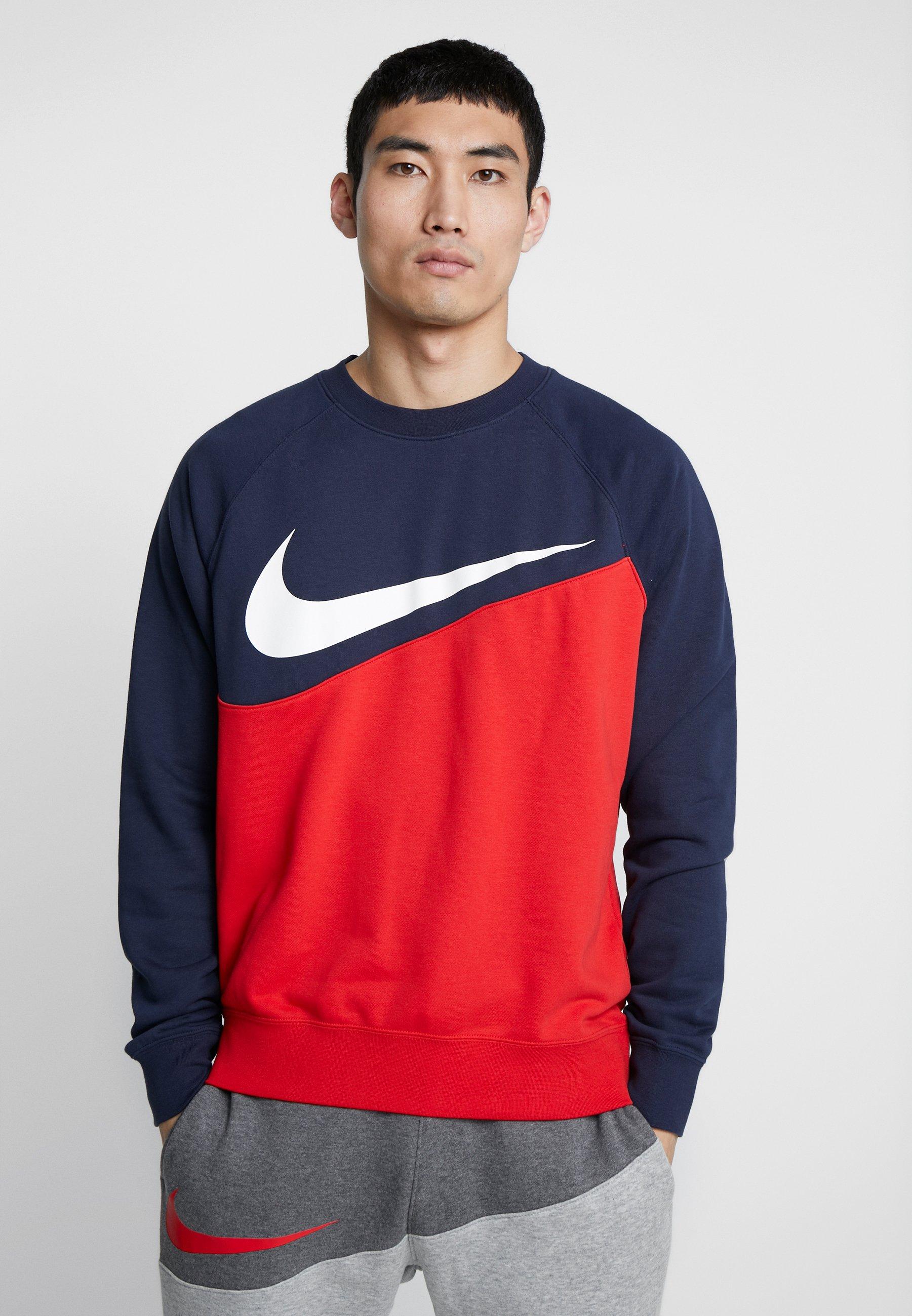 Nike University CrewSweatshirt obsidian Sportswear Red 92YWEHID