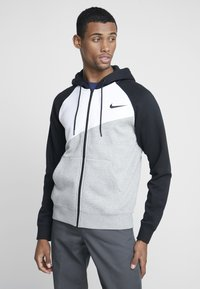 Nike Sportswear - veste en sweat zippée - grey heather/white/black - 0