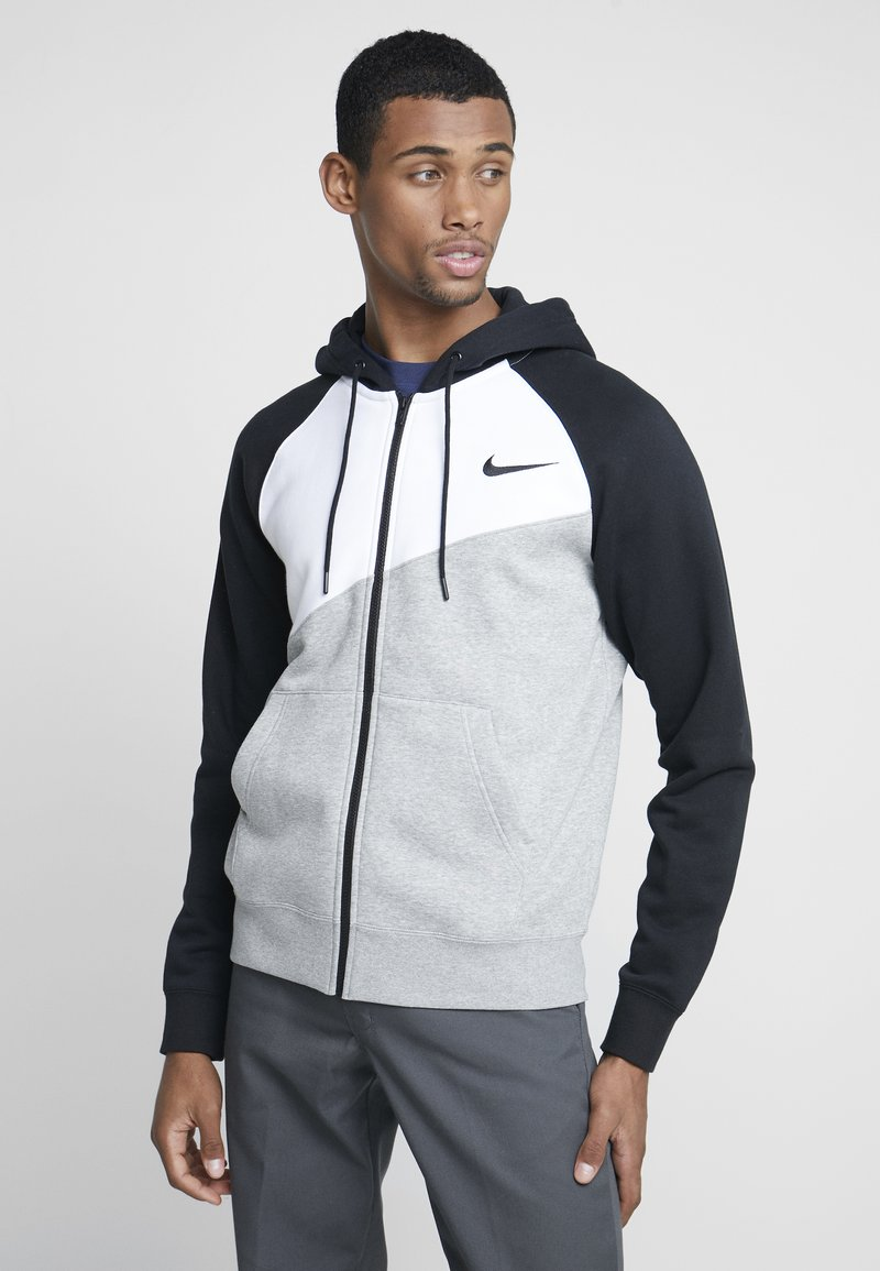 Nike Sportswear - veste en sweat zippée - grey heather/white/black