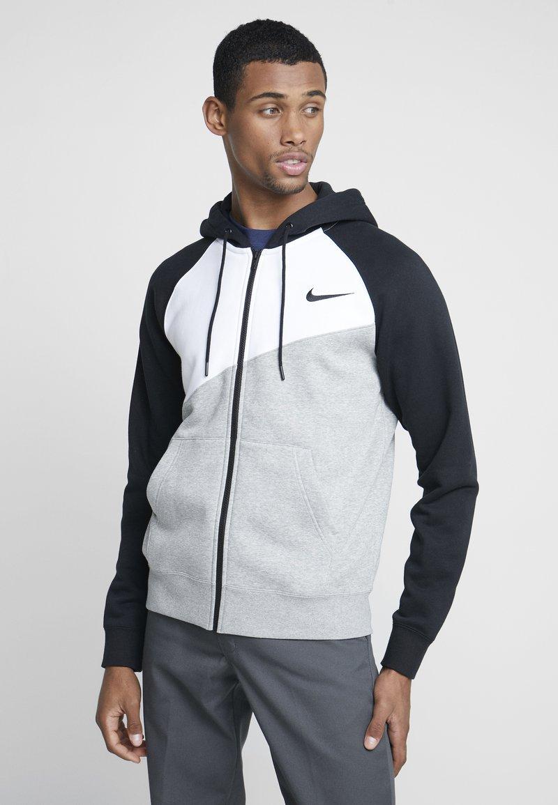 Nike Sportswear - veste en sweat zippée - grey heather/white/black