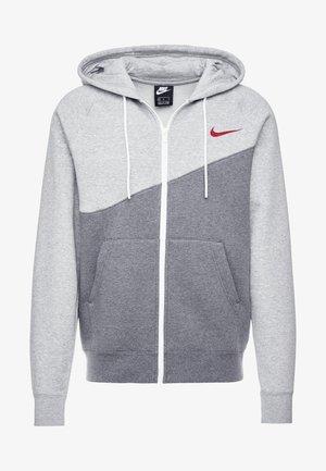 veste en sweat zippée - charcoal heathr/grey heather