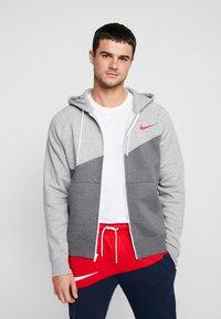 Nike Sportswear - Mikina na zip - charcoal heathr/grey heather - 0