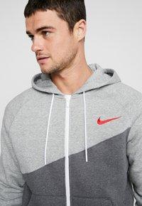 Nike Sportswear - Mikina na zip - charcoal heathr/grey heather - 5