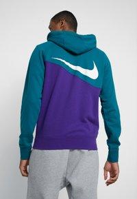 Nike Sportswear - HOODIE - Collegetakki - court purple/geode teal/white - 2