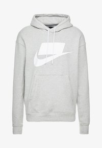 Nike Sportswear - Bluza z kapturem - grey heather/white - 4