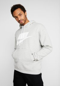 Nike Sportswear - Bluza z kapturem - grey heather/white - 0