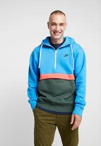 Nike Sportswear - CLUB HOODIE - Hoodie - photo blue/galactic jade/white - 0