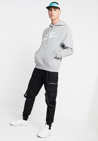 Nike Sportswear - CLUB - Felpa con cappuccio - dark grey heather/dark steel grey/white - 1