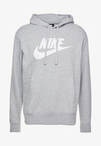 Nike Sportswear - CLUB - Felpa con cappuccio - dark grey heather/dark steel grey/white - 4
