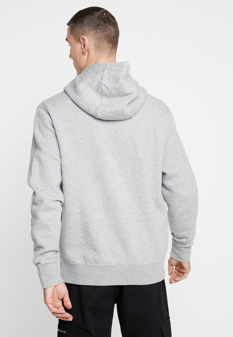 HoodieSweat À Sportswear Grey dark Steel Nike white Club Heather Capuche Dark Grey hCtQrsd