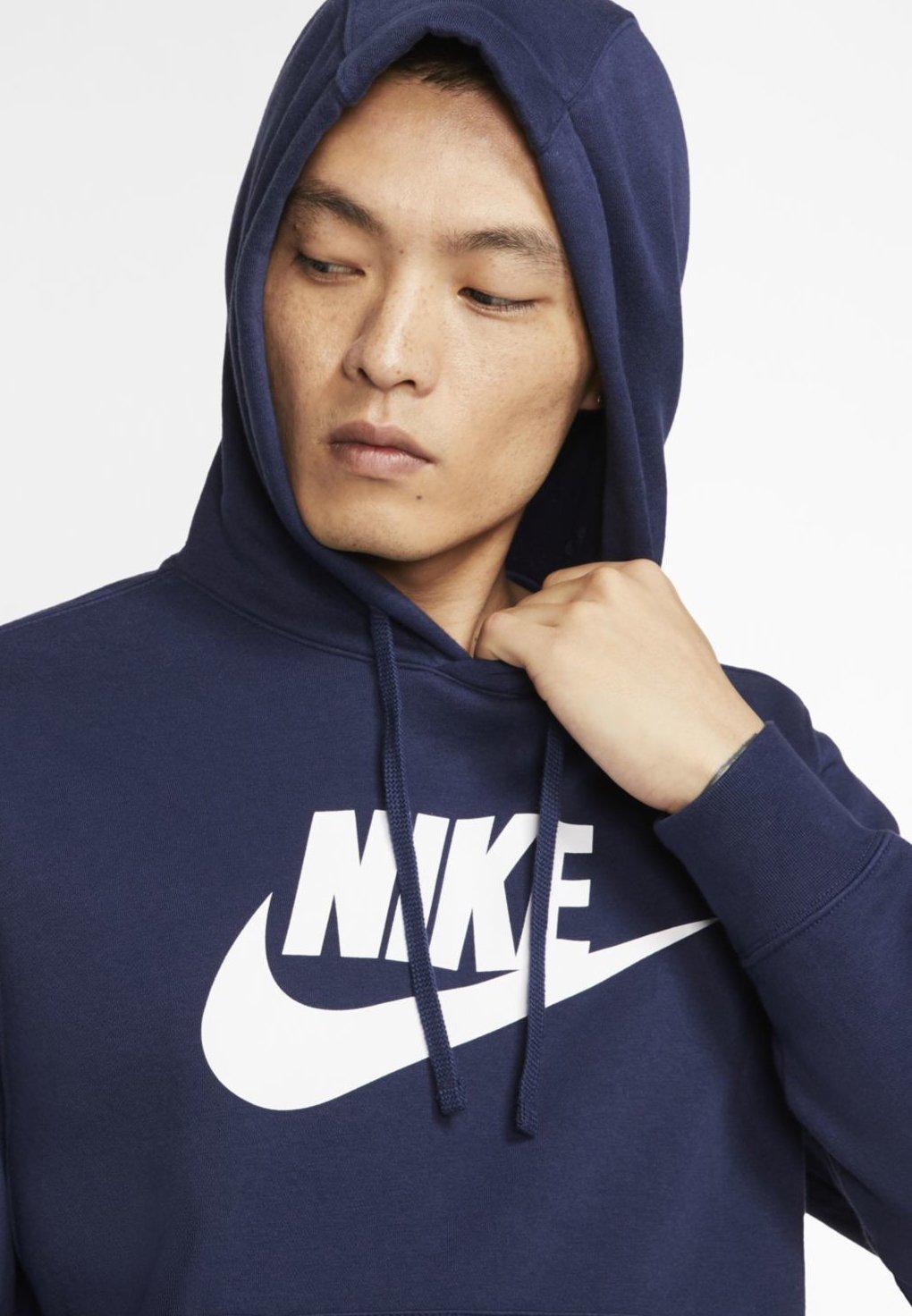 Nike Sportswear CLUB - Bluza z kapturem - midnight navy/white