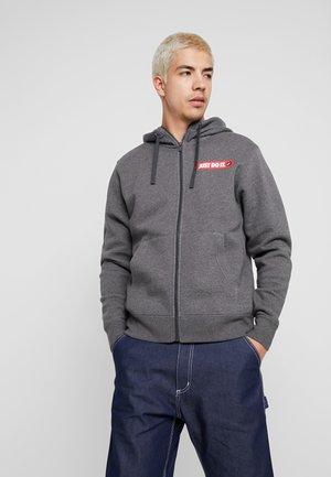 HOODIE  - veste en sweat zippée - charcoal heather