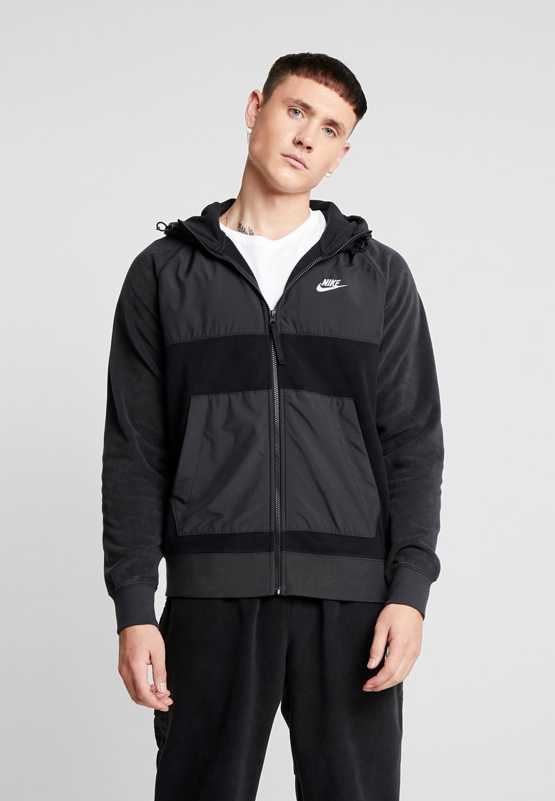 Nike Sportswear - HOODIE WINTER - Fleece jacket - black/off noir/white