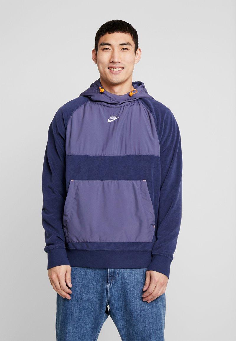 Nike Sportswear - HOODIE WINTER - Hoodie - sanded purple/midnight navy/kumquat/white