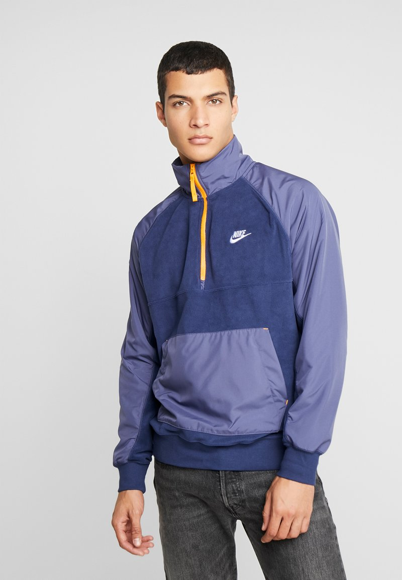 Nike Sportswear - WINTER - Fleece jumper - midnight navy/sanded purple/kumquat/white