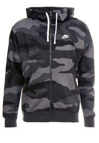 Nike Sportswear - CLUB HOODIE CAMO - Hettejakke - dark grey/anthracite/white - 3