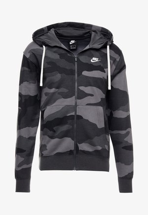 CLUB HOODIE CAMO - Hettejakke - dark grey/anthracite/white