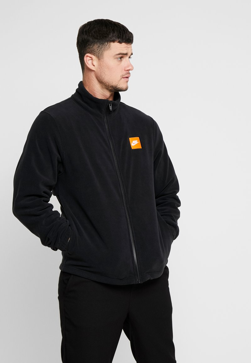 Nike Sportswear - Fleece jacket - black/white