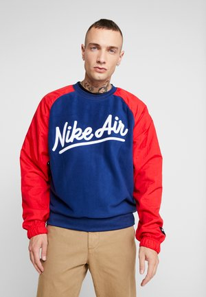 CREW MIX  - Sweatshirt - blue void/university red/white