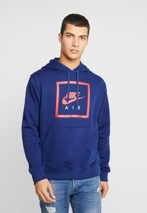 M NSW PO HOODIE NIKE AIR 5 - Sweat à capuche - blue void/university red