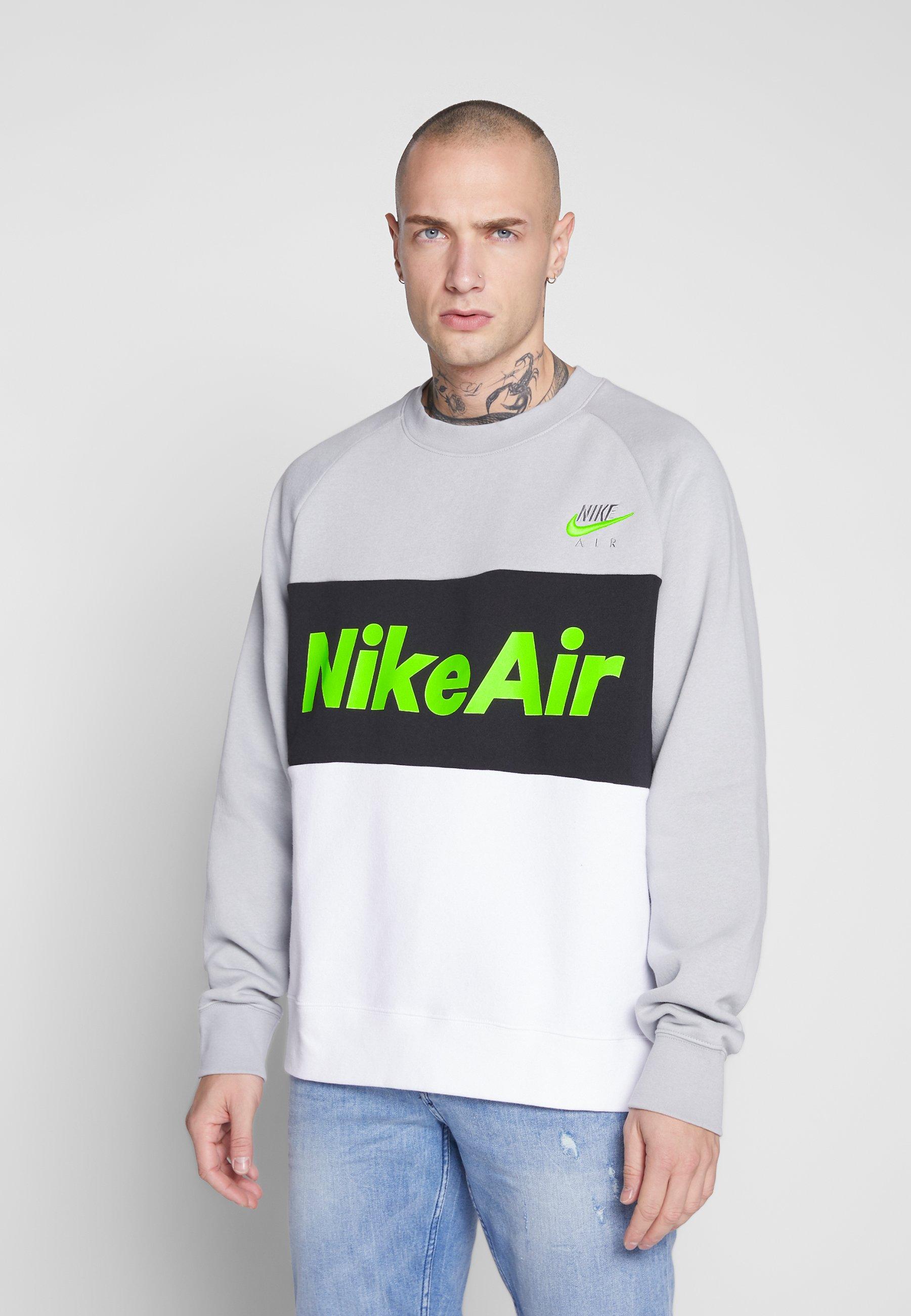 Nike Sportswear AIR - Bluza - smoke grey/white/black/volt