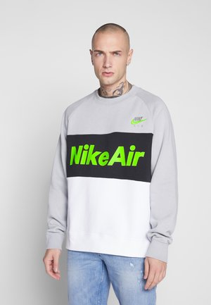 AIR - Mikina - smoke grey/white/black/volt