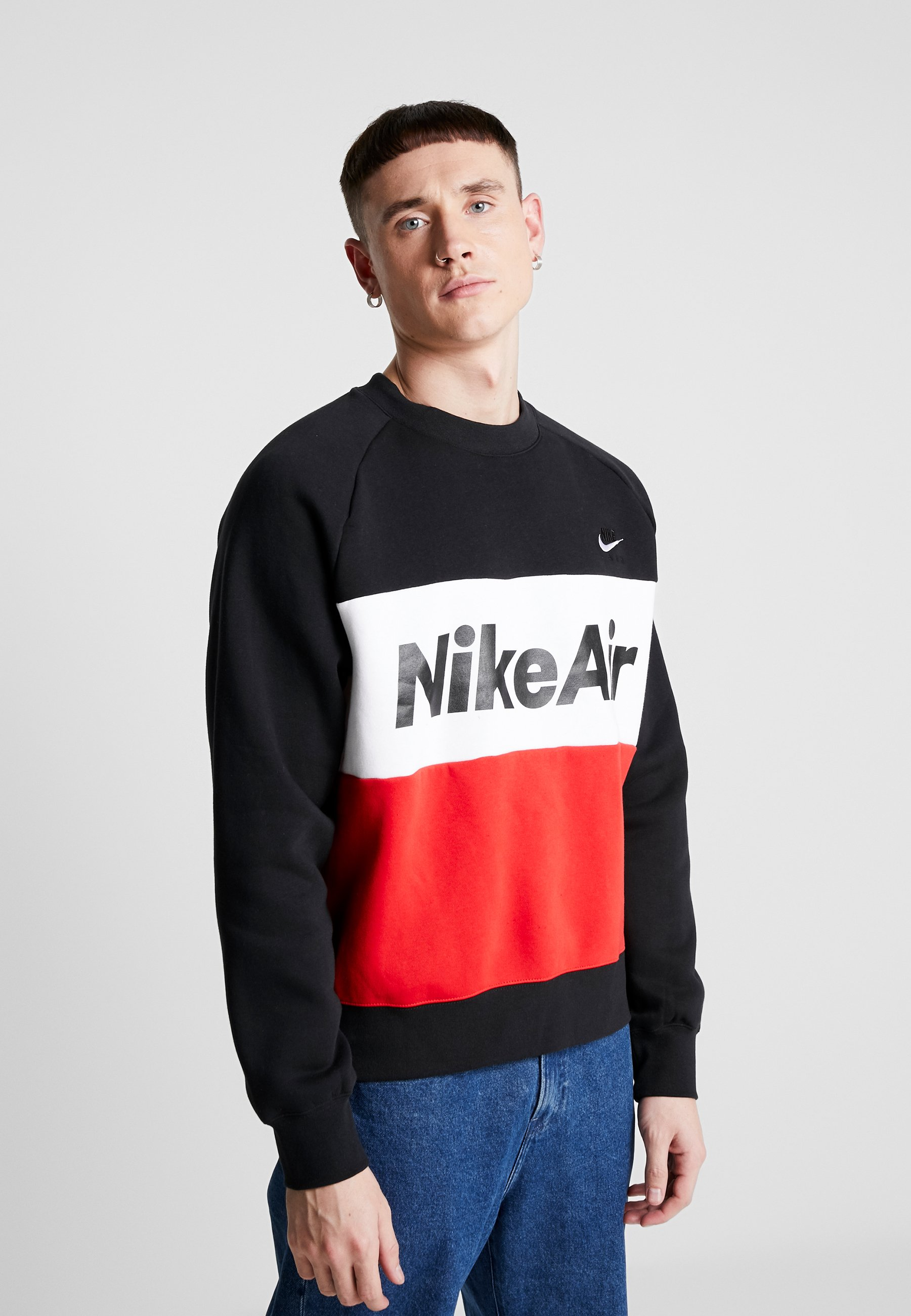 Nike Sportswear AIR - Bluza - black/university red/white