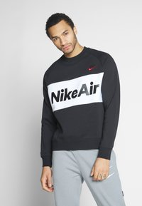 Nike Sportswear - AIR - Sweatshirt - black/white/university red - 0