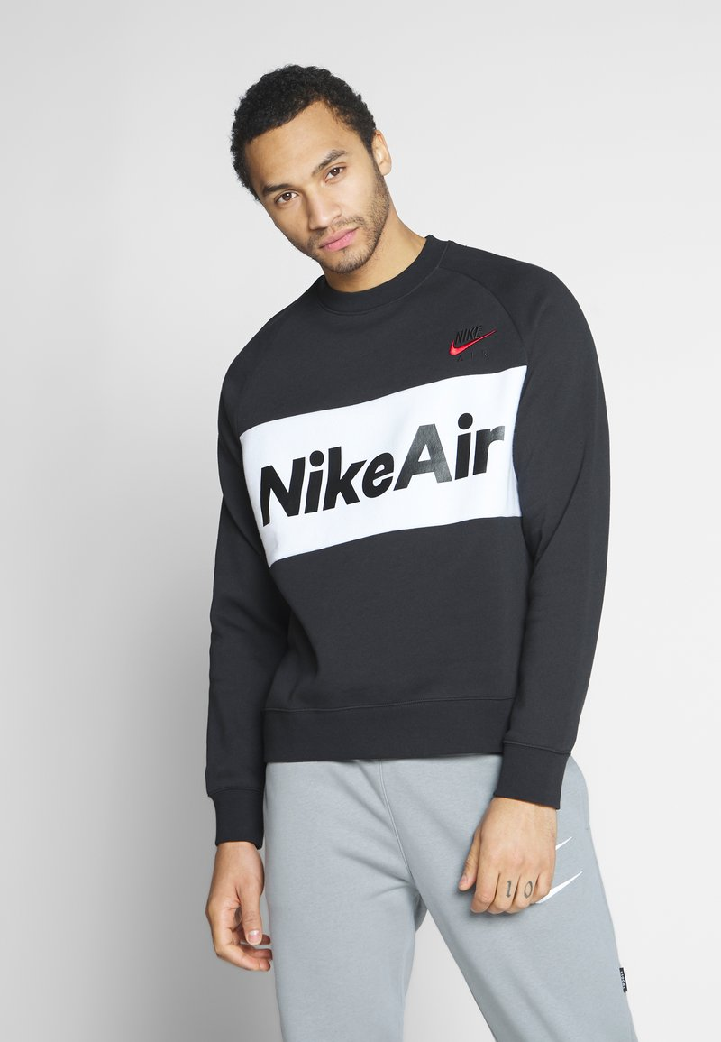 Nike Sportswear - AIR - Sweatshirt - black/white/university red