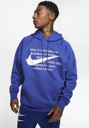HOODIE - Hoodie - deep royal blue/white